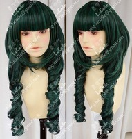 Shipping Dead Master DM Styled Cosplay Wig Black/Green Rock Shooter