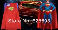 3D Superman Cartoon Silicone Case For Apple iPhone 4/4s 5/5s 5C