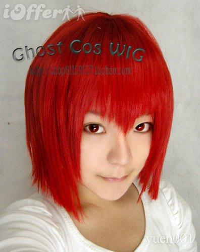 Cosplay Kuroshitsuji Madame Red Short Red Wig(China (Mainland))