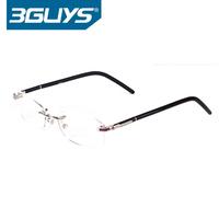 2036 computer radiation glasses transparent rimless computer goggles anti fatigue plain glass spectacles