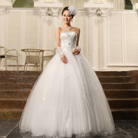 Free Shipping~tube top wedding dress luxury beaded Wedding Dress Gown Bridal Ball Size 4-6-8-10-12-14
