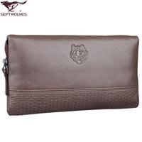 Septwolves male day clutch genuine leather man bag boutique handle bag clutch bag