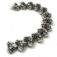 BC0261 Fashion 108g Heavy Men Skull Bracelet  316 Stainless Steel Hot Sale Wholesale Cool Punk Style Skull Bracelet