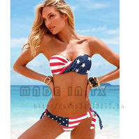 Victoria bikini sexy swimwear hot springs bikini female small push up split swimwear vs