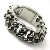 BC0115  Fashion 183g Heavy Huge Men Lizard Bracelet  316 Stainless Steel Hot Sale Wholesale Cool Punk Style Top Bracelet
