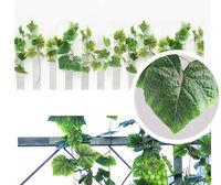 Wall Floral Vine Ivy Silk Fake Grape Plastic Green Leaves Rattan Artificial