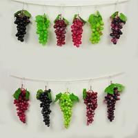 1 pcs Artificial Fake Faux Grape Clusters Bunch Decorative Fruit Home Decor