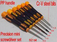 SunRed high quality magnetic Cr-v steel S2 mini 6pcs precision screwdriver set -1.5 -2.0 +1.5 +2.0 NO.SR_113 freeshiping