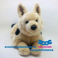 Artificial pet german shepherd dog animal doll euprepocnemis wolfhounds plush toy decoration
