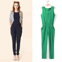 n the summer of 2014 the new dress chiffon jumpsuits female harlan jumpsuit long pants pants big yards
