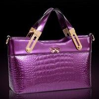 Quality luxury 2014 women's handbag japanned leather fashion messenger bag fashion shiny women's casual handbag bag