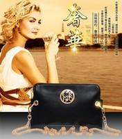 2014 women's genuine leather handbag fashion bag messenger bag day clutch bag small casual chain shoulder bag cross-body bag