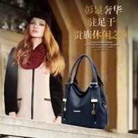 2014 women's genuine leather handbag fashion casual shoulder bag women's cowhide handbag messenger bag