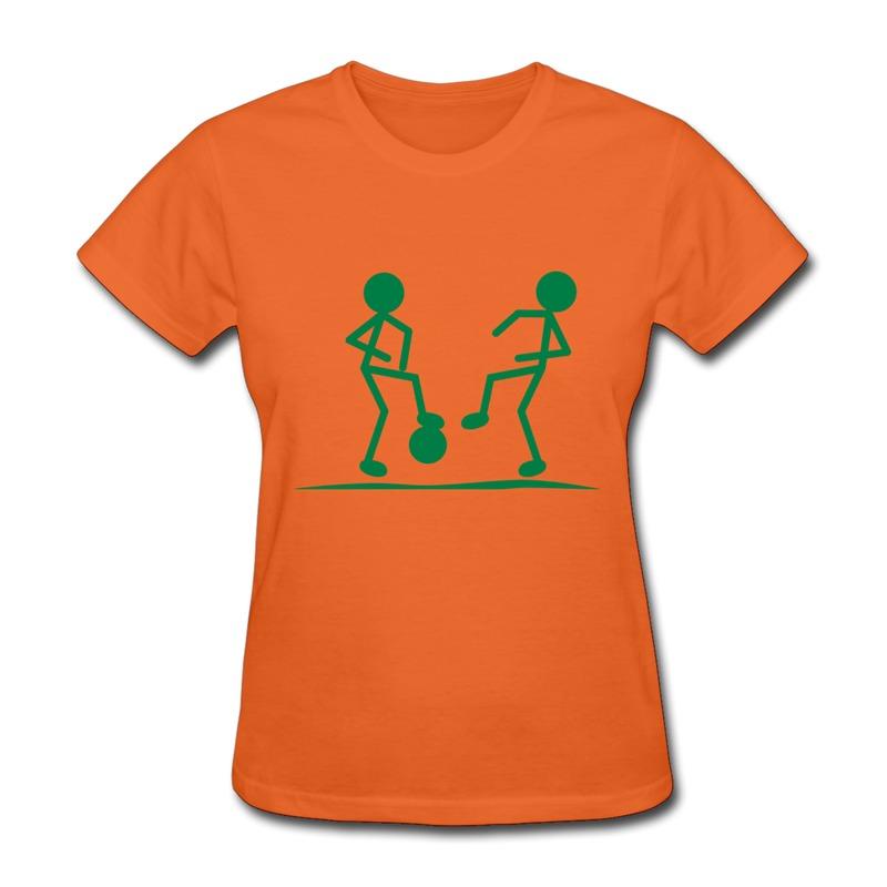 round neck girls shirt soccer design cool photos tee shirts for womens