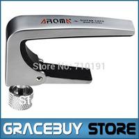 Aroma AC-11 Adjustable Guitar Capo, high-grade metal knob silicone protection pad  capotraste