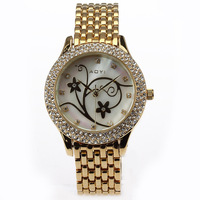 New Arrival Hot Selling Women Crystals Bracelet Wrist Watch Ionic Plating Famous Design Japan Movement Water Resistance