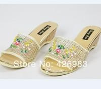 Free shipping 2014 new brand women shoes summer heels sandals open toe sandals women Beach home flip flops slippers flat sandals