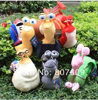 "3 d movie speed snail plush toy doll six boone strange white illusion ""snail toy Plush Doll hot sale"