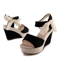 Summer sweet Women's Ankle Strap Sandals Platform Wedges Shoes OL Pumps Comfort Wholesale 1Pair