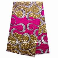 2014 Newest african veritable patchwork wax hollandais super wax prints fabric textile 6yards AMY1760