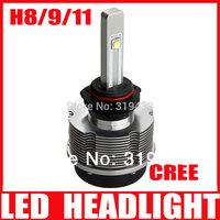 Gen3 20W H11 H8 H9 Cree LED Headlight Conversion Kit 6000K 2400Lm CREE Chip White Car Fog Light Lamp