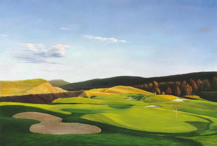 Online kopen wholesale golf kunst schilderijen uit china golf kunst schilderijen groothandel - Badkamer blauwe petroleum ...