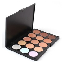Free & Drop Shipping! 15 Colors Professionl Makeup Eyeshadow Camouflage Facial Concealer Neutral Palette