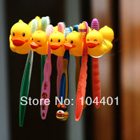 Cute Cartoon sucker toothbrush holder suction hooks Toothbrush-Stand Rack Family sets duck