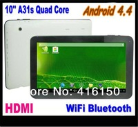 10 inch Tablet PC  A31s quad Core 1GB RAM 16GB ROM Dual Camera WIFI HDMI Bluetooth 1024*600 HD screen 10.1 Inch Tablets PC