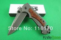 New 2014 SOG FA05 quick folding knife 5Cr13 56hrc steel head + wood handle Tactical knives hunting camping tools 5pcs/lot