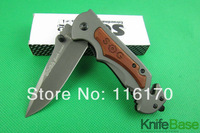 New 2014 SOG FA05 quick folding knife 5Cr13 56hrc steel head + wood handle Tactical knives hunting camping tools 5pcs/lot