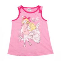 2014 new nova girls print vest kids sleeveless t shirt 100 cotton t shirt for baby girls