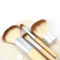 2014 NEW,4Pcs Earth-Friendly Bamboo Elaborate Makeup Brush Sets makeup brush kits tools facial brush free shipping