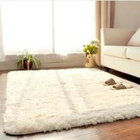 100*200cm--Fashion Living Dining Bedroom Car Flokati Shaggy Ivory Rug Anti-skid Carpet  Seatmat