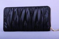 MOQ 1pcs 2014 New brand genuine Leather women's Multifunctional wallet mi u long purse Women leather wallets