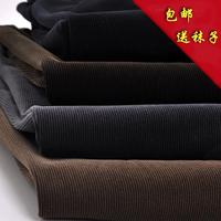 Male thick winter corduroy pants men's clothing casual pants high waist plus size plus size corduroy trousers