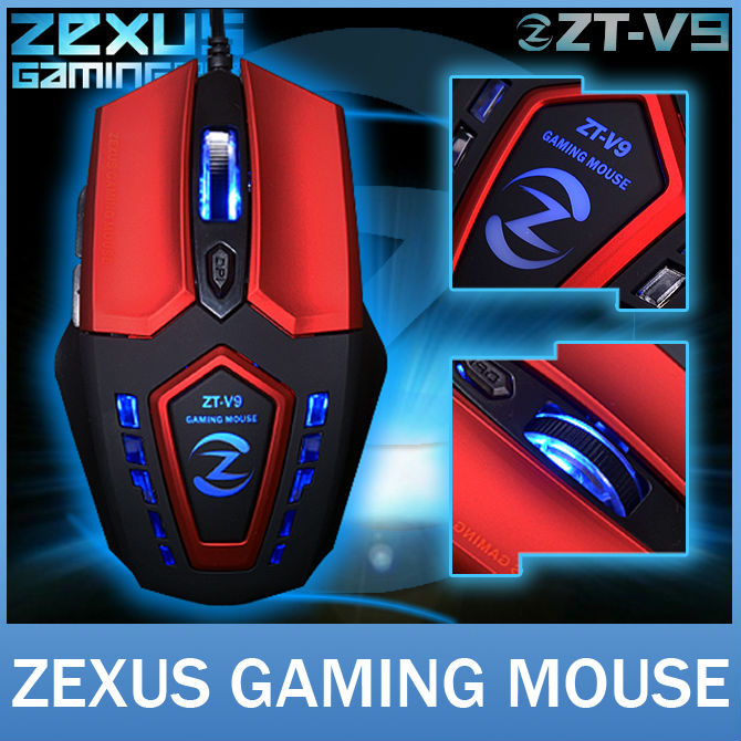 ZT-V9 Original Brand 2400 DPI 6D Optical Gaming Mouse Cool Design Professional USB Wired Game Mice For Computer Peripherals(China (Mainland))