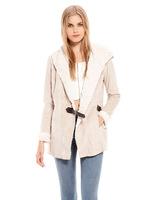 women's slim  short Suede fur warm jacket