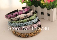 20ps/lot NEW Arrival Fashion Plaid Design Headbands Korean Style Cute Women Hair Accessory Hair Jewelry Free Shipping