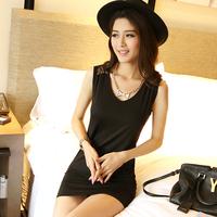 New 2014  Women  Casual Dress Plus Size Loose  Lace  Dress  XL XXL SI054