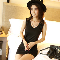 New 2014  Women summer dress 2014 Casual Dress Plus Size Loose  Lace Winter Dress  XL XXL SI054