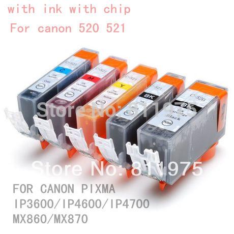 PGI-520 совместимый патрон чернил Для Canon iP3600 ip4600 ip4700 MP540 MP550 MP560 MP620 MP630 MP640 MP980 MP990 MX860 MX870
