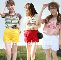 Summer 2014 Korean Cotton Women Short Pants Casual Candy Color Korean Beach Shorts Women Hot Short Casual Women Shorts