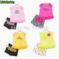 Retail 2014 Summer Lace Children Girl Clothes Set T-Shirt Lattice shorts Pants 2 Colors Infant Garment Little Spring GLZ-T0216