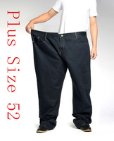 Plus Size 38-52  Men's Autumn Winter Thick  Loose Straight Denim Jeans Large Size Jeans