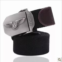 The new bentley male woman with thick canvas leisure tactical belt