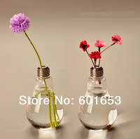 Home decor vase light planter bulb vase modern home decoration tabletop design vases decoration novelty bulb home vase