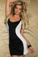 FREE SHIPPING 2014 spring and summer MINI sex strapless empire women dress clubwear sheath dress