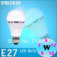 50% off 5pcs/lot High brightness 2835 SMD bulb led bulb lamps E27 3W 5W 7W 9W 12W 15W 110V-240V free shipping