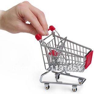 360shop Mini Shopping Cart Desk Organizer Mini Shopping Trolley Best fashion gifts for children Free shipping 4pcs/lot(China (Mainland))